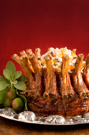 Pork Crown Roast with Stuffing Recipe