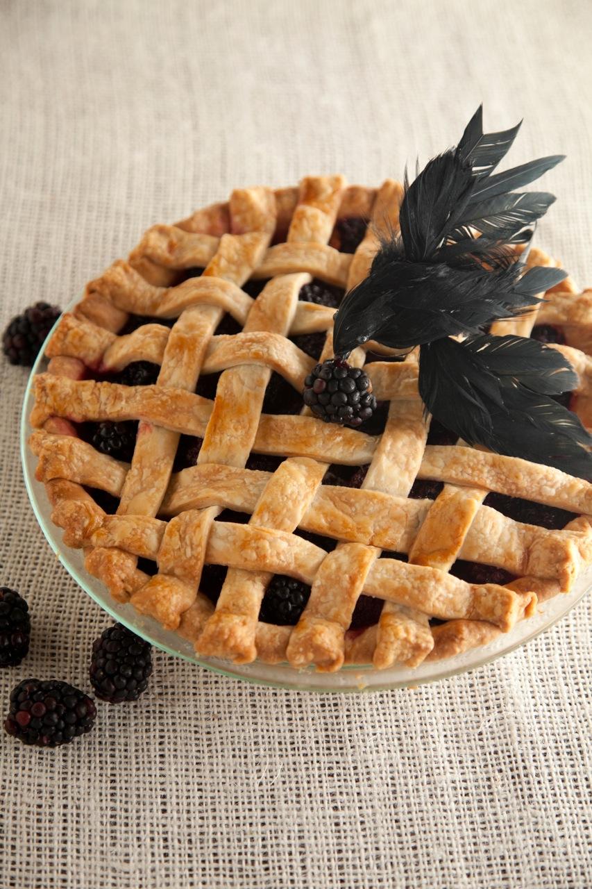Lattice-Top Blackberry Blackbird Pie Thumbnail