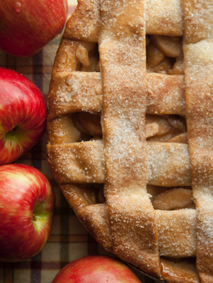 Apple Pie with a Sugared Lattice Crust