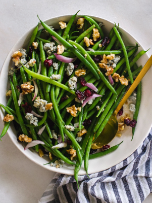 Green Beans with Walnuts, Cranberries and Blue Cheese Thumbnail