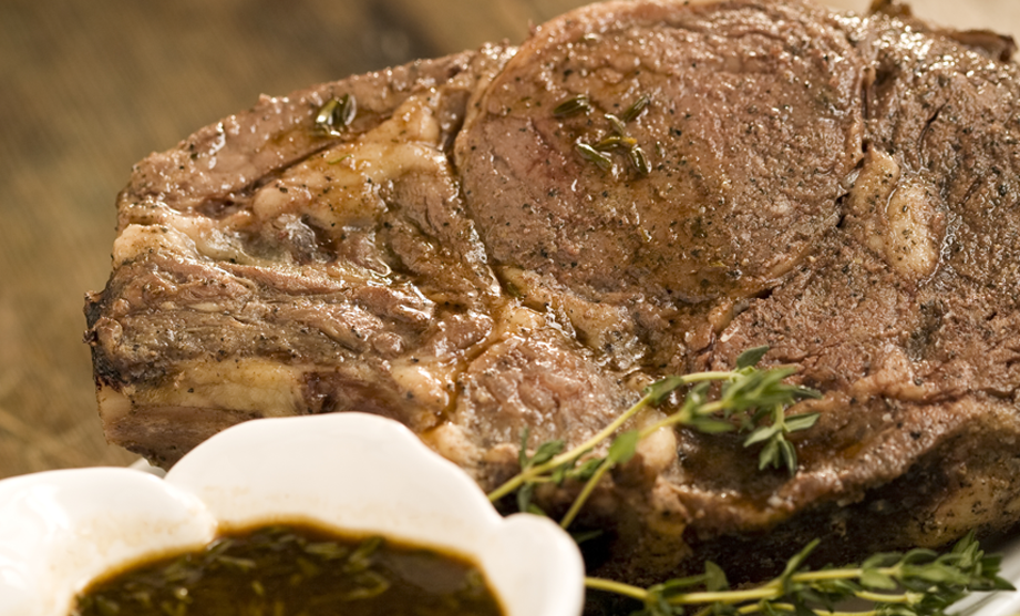 From the Reissue of The Lady & Sons Savannah Country Cookbook: Roast Prime Rib of Beef with Rich Pan Sauce
