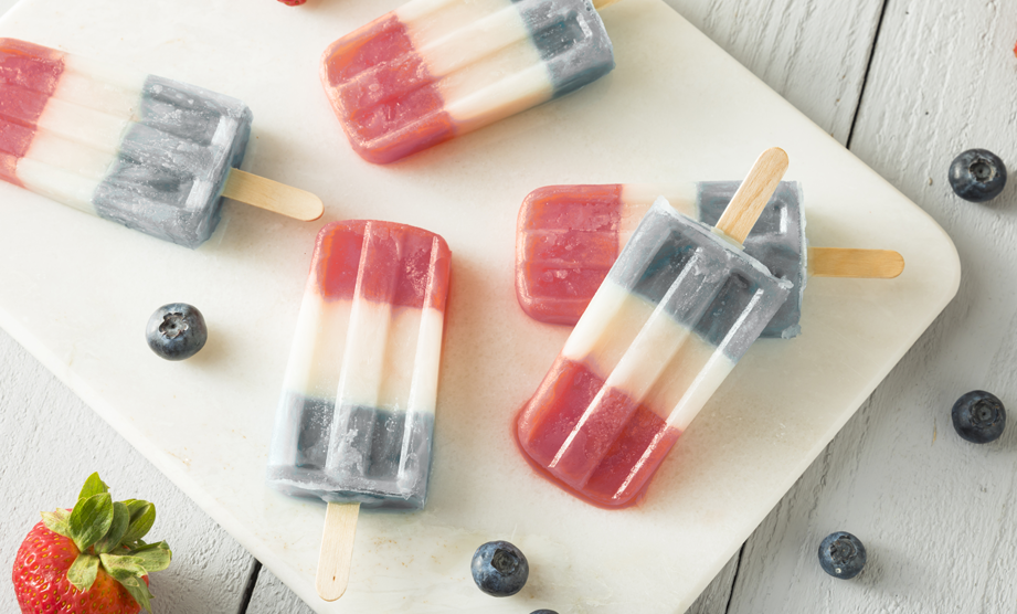 How-To: Red, White & Blue Ice Pops
