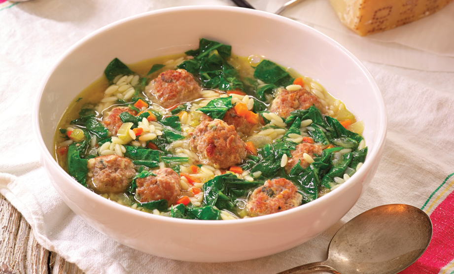 Paula Deen Cuts the Fat, 250 Favorite Recipes All Lightened Up, Exclusive: Italian Wedding Soup with Turkey Meatballs