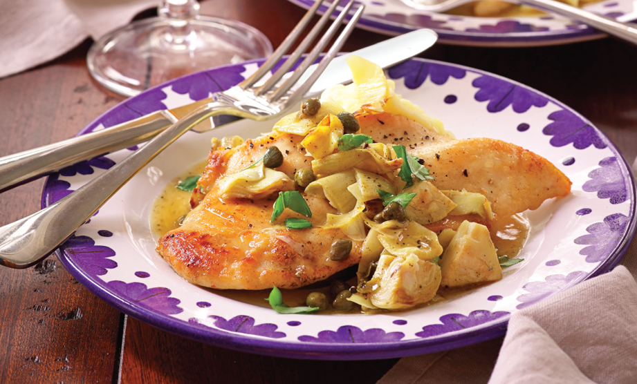 Paula Deen Cuts the Fat, 250 Favorite Recipes All Lightened Up, Exclusive: Lemon Chicken with Artichokes