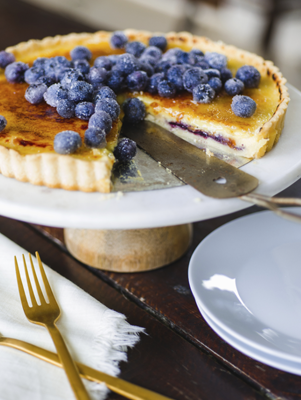 Blueberry Creme Brûlée Tart