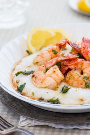 Paula Deen Braised Butter Shrimp and Grits