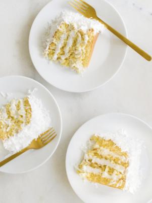 Coconut Lemon Curd Cake