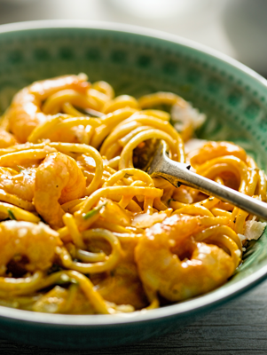 Creamy Spicy Seafood Pasta