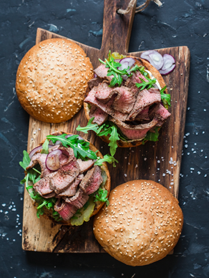Grilled Marinated Flank Sandwiches