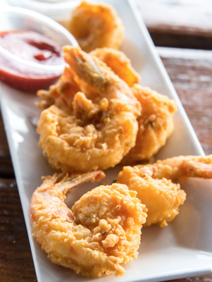 Lady and Sons beer battered shrimp