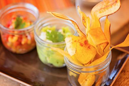 Quick Plantain and mango salsa