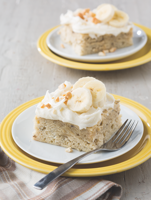 Banana Cake with Creamy Frosting