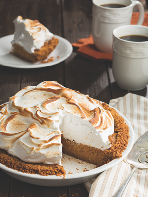 Sweet Potato Pie with Meringue Topping