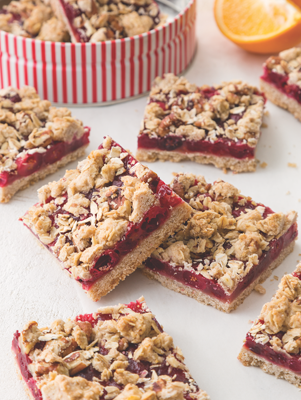 Spiced Cranberry Pecan Bar Cookies