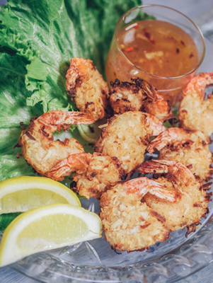 Air Fryer Coconut-Fried Shrimp with Dipping Sauce Thumbnail