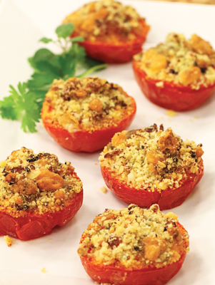 Air Fryer Blue Cheese and Bacon Broiled Tomatoes Thumbnail