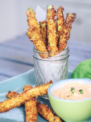 Air Fryer Crispy Zucchini Fries