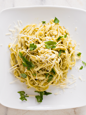 Quick Lemon and Basil Linguine Thumbnail