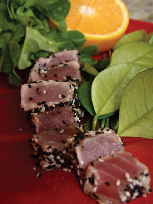 Air Fryer Sesame Seed–Crusted Tuna Steaks