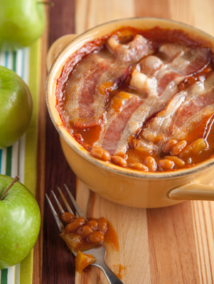 Apple Baked Bean Casserole