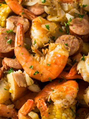 Stove-Top Low Country Boil for 2 Recipe
