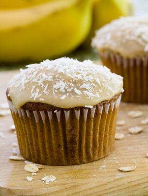 Banana Oat Cupcakes