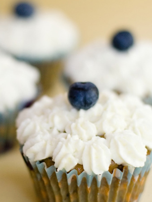 Blueberry Chocolate Chunk Cupcakes