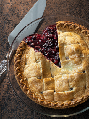 Cranberry-Raisin Pie