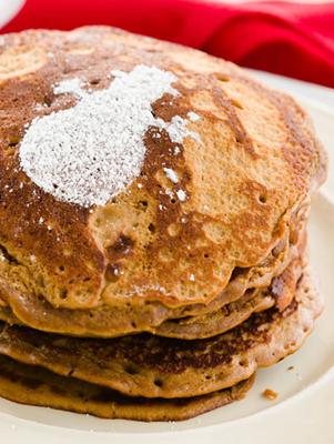 Gingerbread Cupcake Batter Pancakes