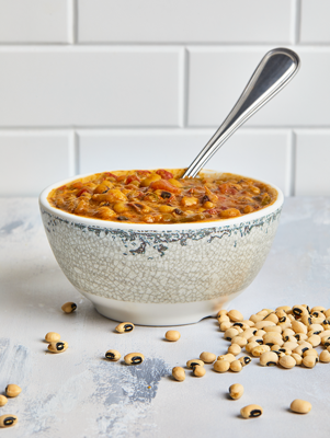 New Year's Day Pressure Cooker Black Eyed Peas Thumbnail
