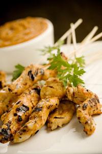 Chicken Satay with Peanut Butter BBQ Sauce Recipe