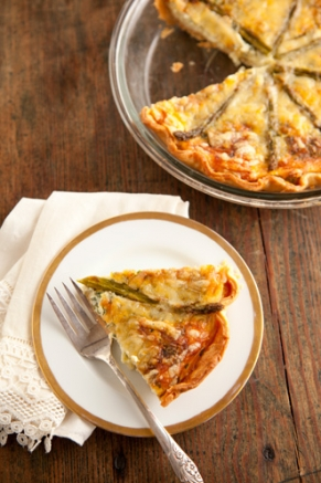 Lighter Asparagus Quiche Recipe