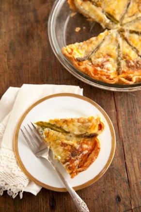 Lighter Asparagus Quiche Recipe