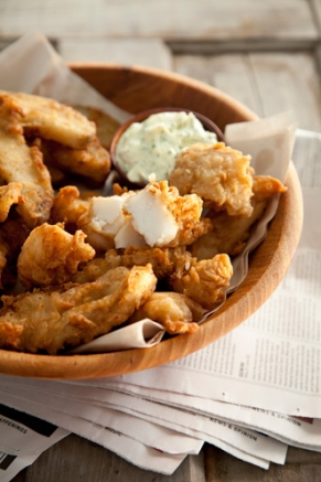 Lighter Beer Battered Fish and Chips Recipe