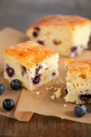 Lighter Sweet Orange and Blueberry Cornbread Recipe