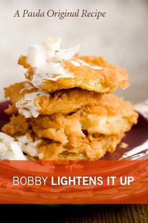 Bobby's Lighter Fried Green Tomatoes Recipe