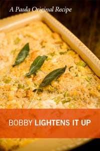Bobby's Lighter Southern Cornbread Stuffing Recipe