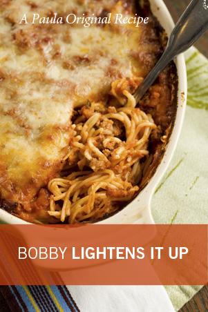 Bobby's Lighter Baked Spaghetti Recipe