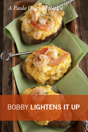 Bobby's Lighter Spicy Shrimp Stuffed Potatoes Thumbnail