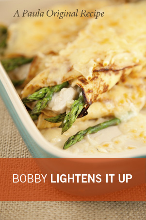Bobby's Lighter Chicken and Asparagus Crepes Thumbnail