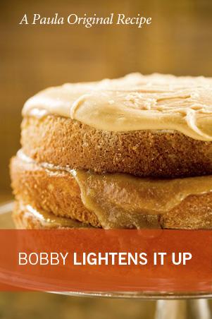Bobby's Lighter Caramel Cake Recipe