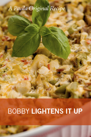 Bobby's Lighter Chicken and Rice Casserole Recipe