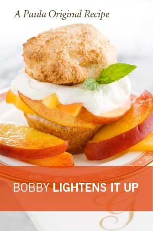Lighter Peach Shortcake Recipe
