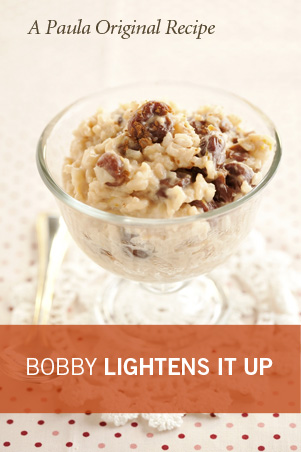 Bobby's Lighter Old Fashioned Rice Pudding Recipe