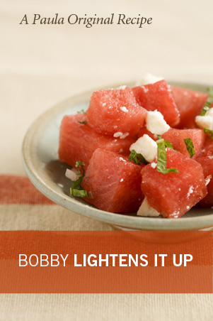 Lighter Watermelon Salad With Feta and Mint Recipe