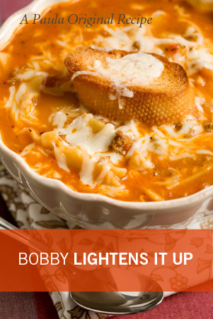 Bobby's Lighter Tastes Like Lasagna Soup Recipe