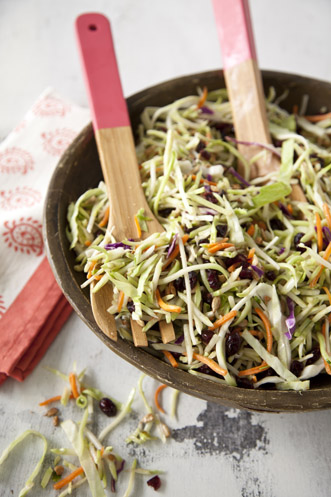 Broccoli and Red Cabbage Slaw Recipe