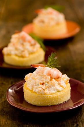 Cheesy Shrimp on Grits Toast Recipe