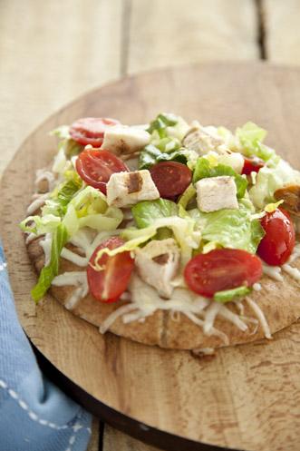 Chicken Caesar Pita Pizza Recipe