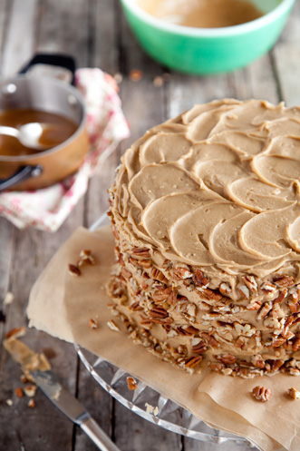Chocolate Pecan Layer Cake Recipe